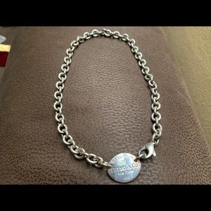 Authentic Return to Tiffany sterling silver choker